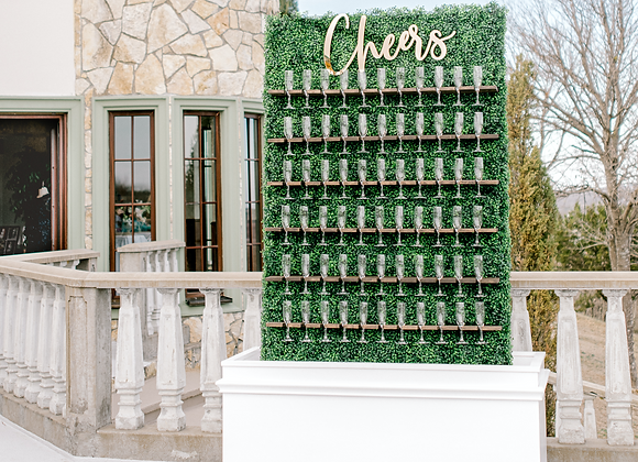 CHAMPAGNE HEDGE WALL