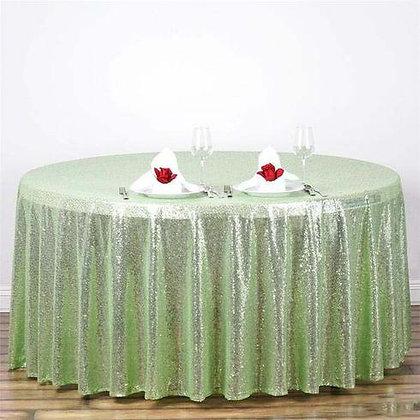 GREEN SEQUIN TABLECLOTHS