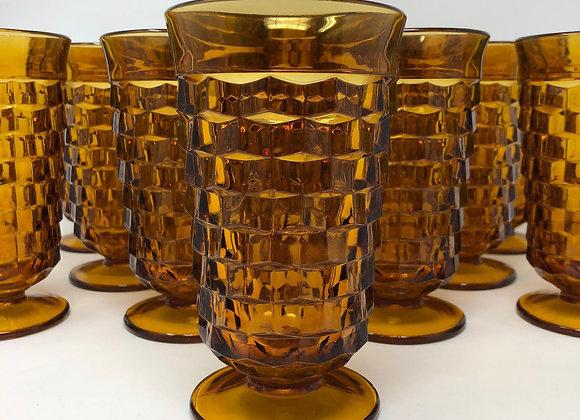 AMBER VINTAGE TEA GLASS