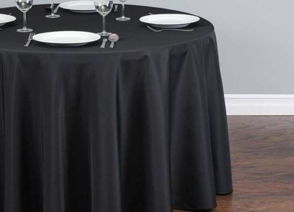 BLACK POLYESTER TABLECLOTHS