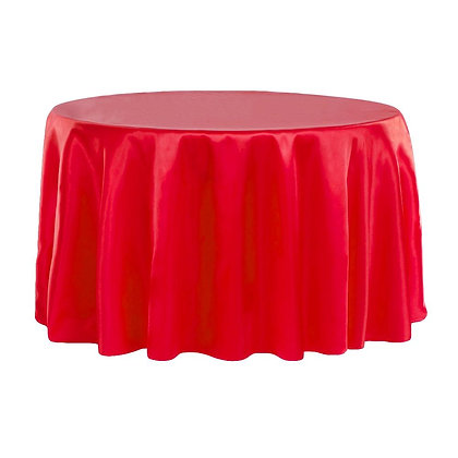 RED LAMOUR SATIN TABLECLOTHS
