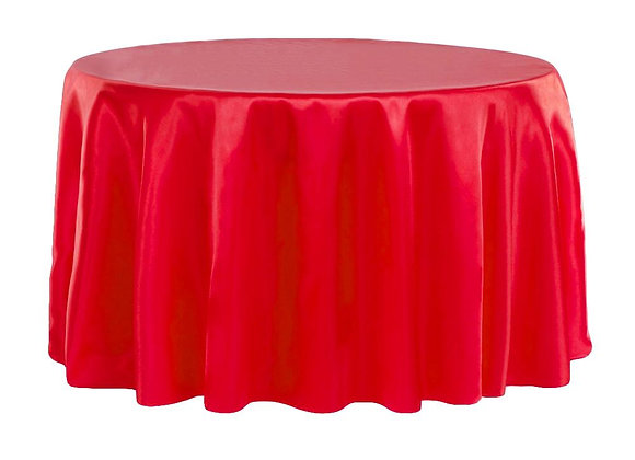 RED BRIDAL SATIN TABLECLOTHS