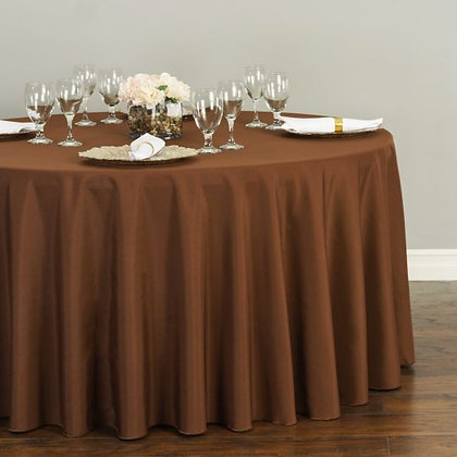 CHOCOLATE POLYESTER TABLECLOTHS