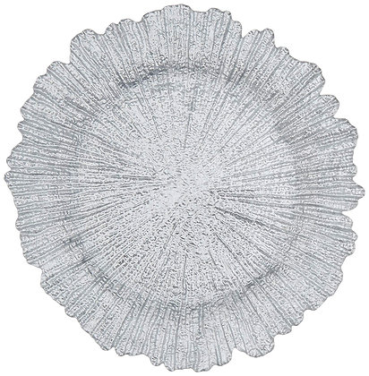 SILVER REEF GLASS CHARGER PLATE
