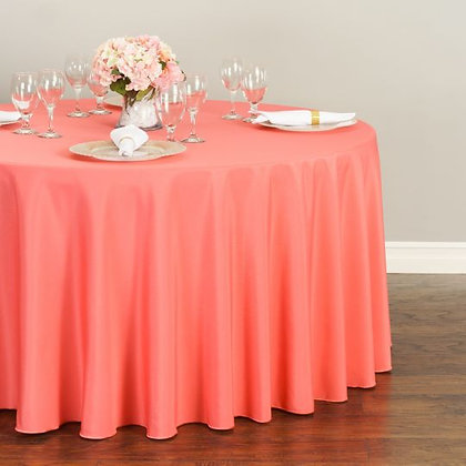 CORAL POLYESTER TABLECLOTHS