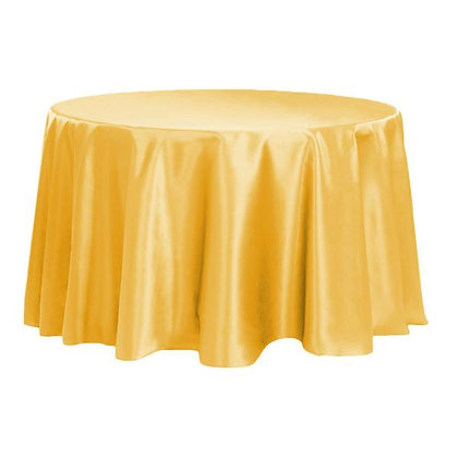 YELLOW LAMOUR SATIN TABLECLOTHS
