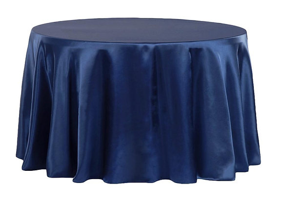 NAVY BRIDAL SATIN TABLECLOTHS