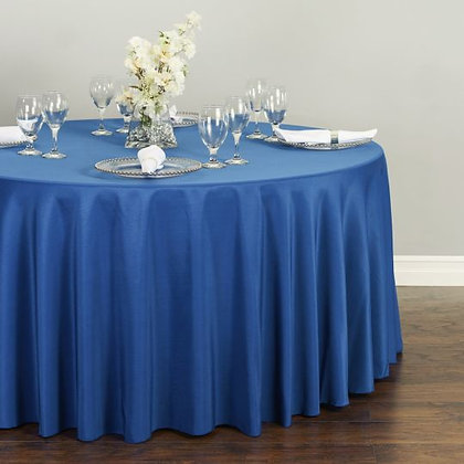 ROYAL BLUE POLYESTER TABLECLOTHS