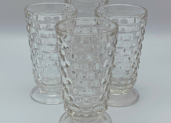 CLEAR VINTAGE TEA GLASS