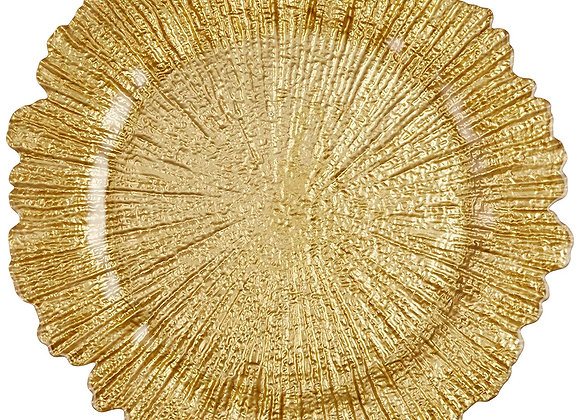 GOLD REEF CHARGER PLATE