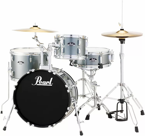 Pearl Roadshow 4-piece Complete Drum Set with Cymbals