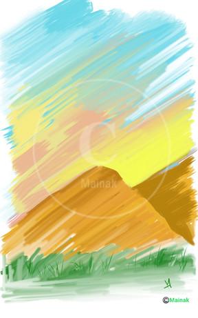 Morning Sun on the Mountains