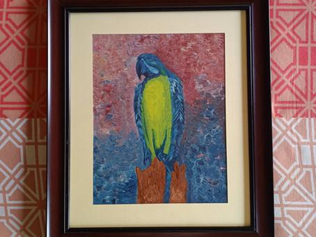 Morning Bird - Oil Painting