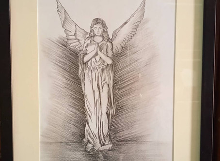Pencil Sketch of an Holy Angel