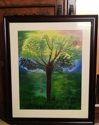 Oil Painting - Serene Immaculate Imaginary Kalpavriksha