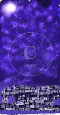 Stars in a Moon Light Sky