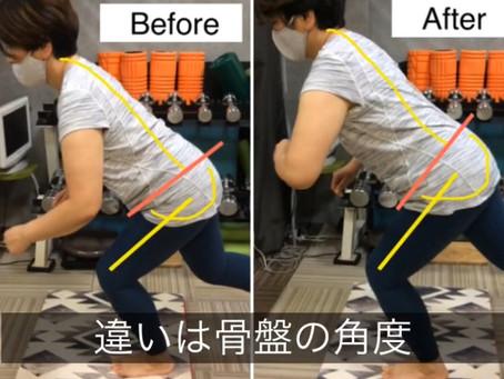 腹式呼吸とスクワット動作