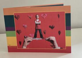 """wervingskaart met Lotte """"ik heb maar een half hartje"""""""