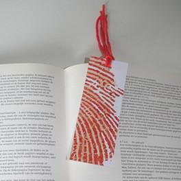 Boekenlegger #fingerprints oranje