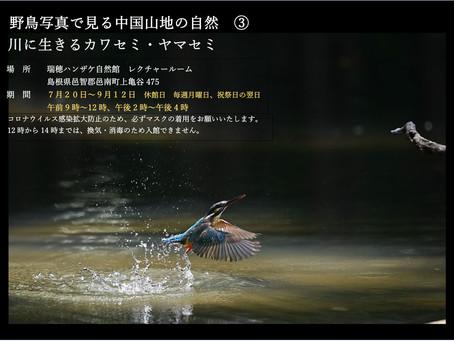瑞穂ハンザケ自然館の企画写真展のお知らせ
