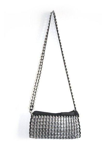 shoulder bag black for women canette upcycling mode accessorize maroquinerie party night