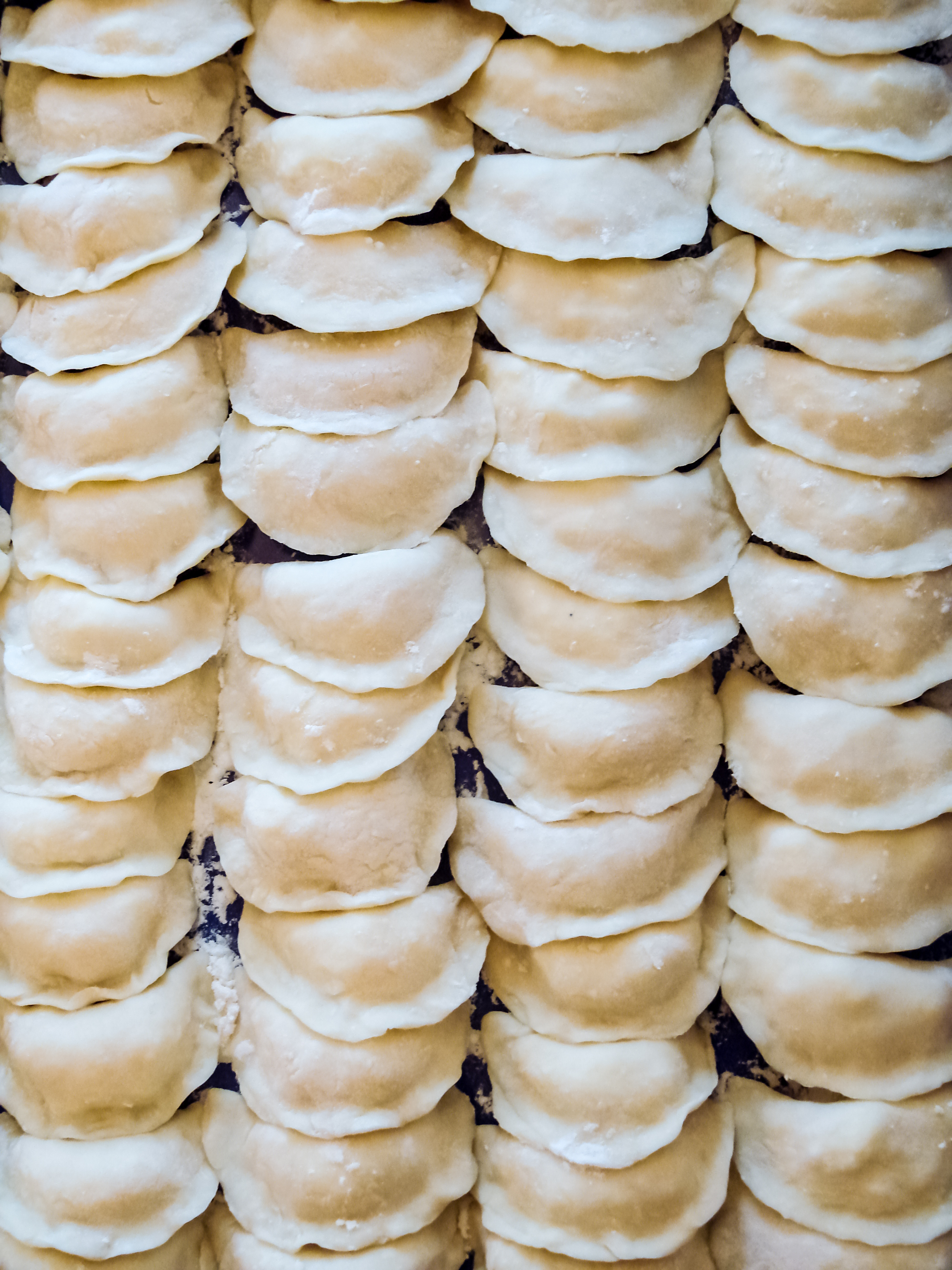 Fresh homemade delicious dumplings (vare