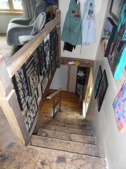 New railing for studio stairs