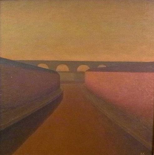 橋のある風景 6号スクエア 2000年代