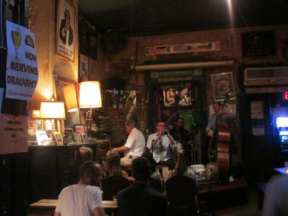 Soaking in the atmosphere at a jazz bar in Bourbon street.