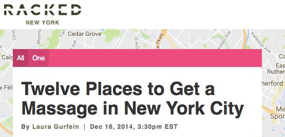 Racked NY #1 Massage : Eastside Massage