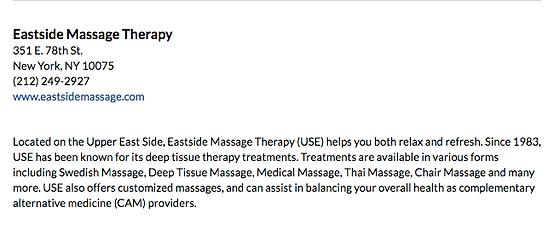 CBS New York Best Massages