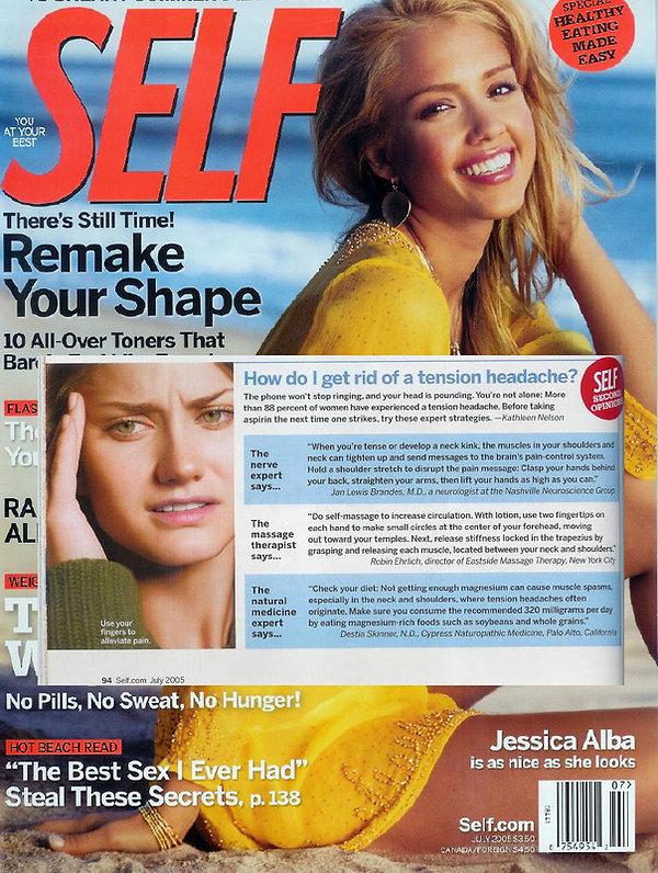 Self Magazine Self Massage Article