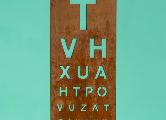 Rusty Metal Wall Art - Eye Chart