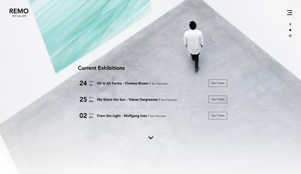 Arenaer website templates – Kunstgalleri