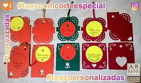 Tags especiais, identificador,etiquetas de produtos e de mensagens,com cortes decorativos e adesivos personalizados.