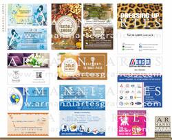 Cartões de visita.