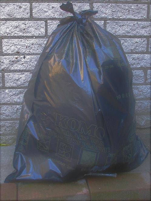 Black Rubble Sacks( PACK 10 )  ** TAPE BANDED **