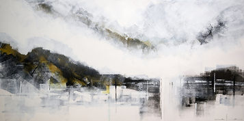 Valley Bruce Mortimer Gallery Expressionism Acrylic Painting Canvas Hill Forest Industrial City Sky Cloud