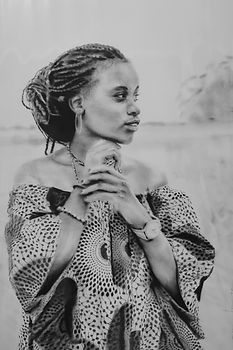 Bruce Mortimer Gallery Pencil Charcoal Drawing Realistic Presentation African Woman Portrait
