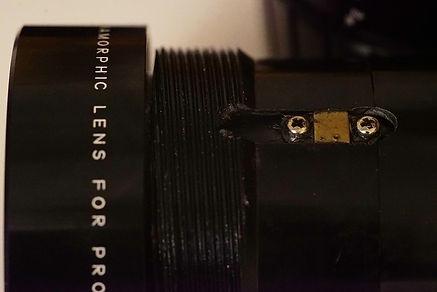 adjustment screws Elmoscope 1280 anamorphic adapter