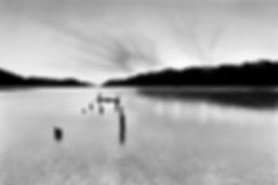 landscape lake wakatipu charcoal pencil drawing photorealism bruce mortimer