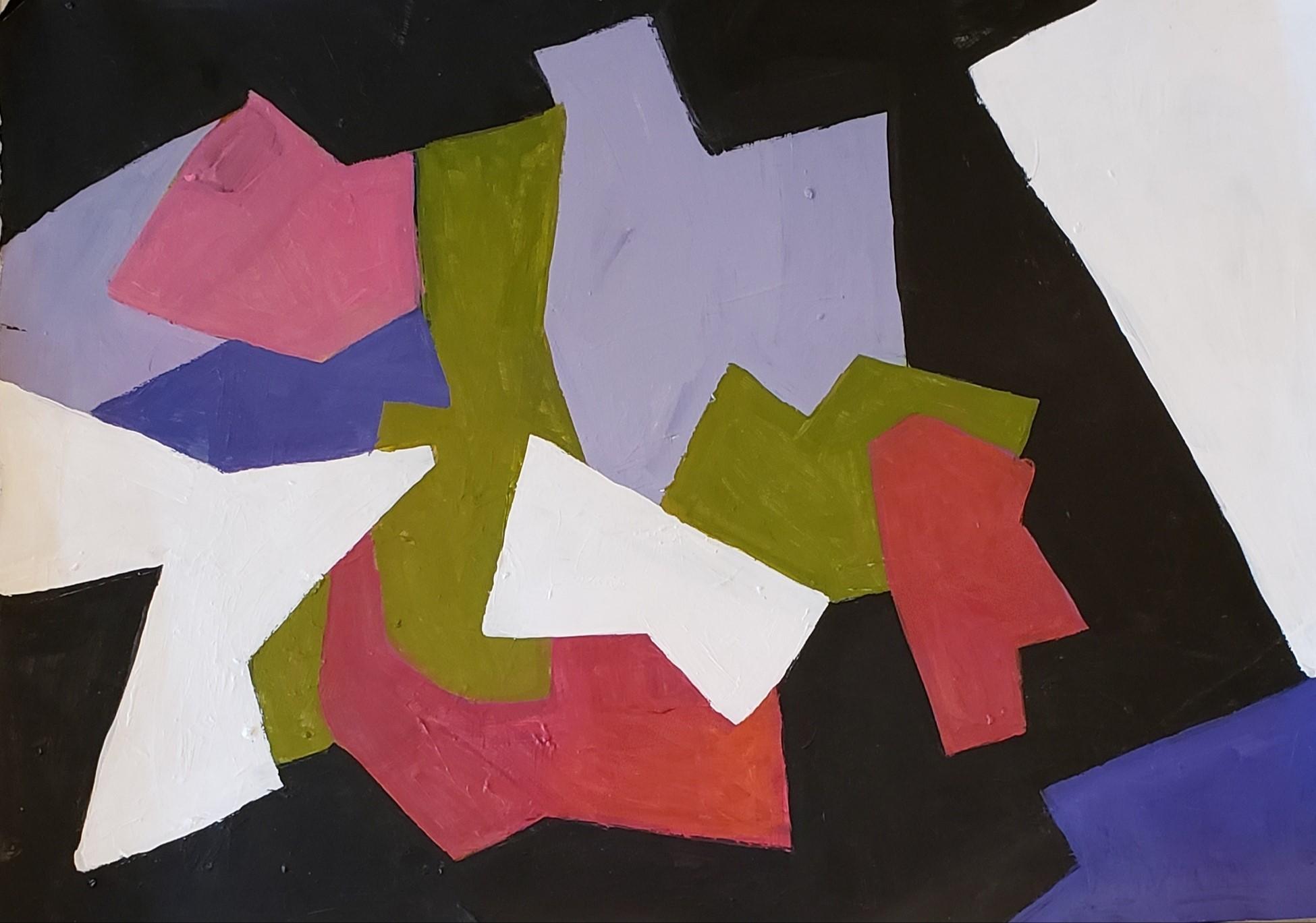 joe says, acrylic on paper , 20 x 30
