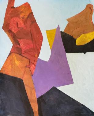 capricious, notch, 35 x 30, acrylic on p