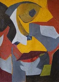 harlequin expression, 2020, 36 x27 acryl