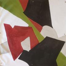 joes deck, acrylic, oil stick on canvas