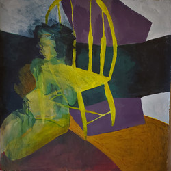 i was so certain, acrylic on paper , 37