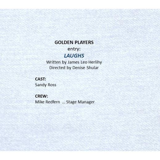Golden entry, 'Laughs'