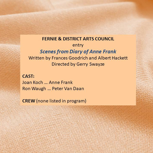Fernie entry 'Scenes from Diary of A. Franks'