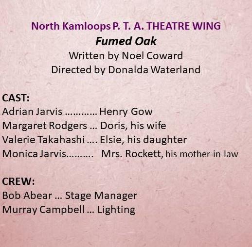 North Kamloops PTA Theatre Wing entry