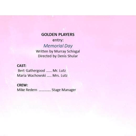 Golden entry, 'Memorial Day'